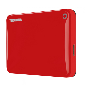 Harga Toshiba Canvio Connect2 External Hard Drive HDD USB 3.0 2TB (Red) - Intl