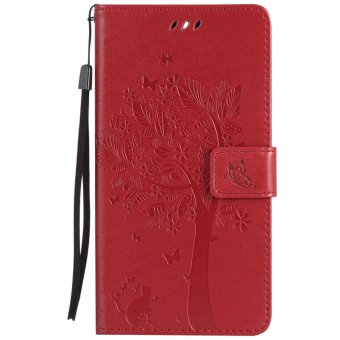 Harga Fashion Tree Protective Stand Wallet Purse Credit Card ID Holders Magnetic Flip Folio TPU Soft Bumper PU Leather Ultra Slim Fit Case Cover for Huawei Mate 9  - intl