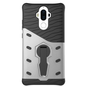 Heavy Duty Shockproof Dual Layer Hybrid Armor Defender Full Body Protective Cover with 360 Degree Rotating Kickstand Case for huawei mate 9 - intl