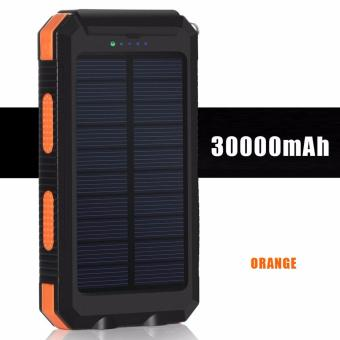 Harga Solar 30000mah Waterproof Power Bank with FREE LAMP