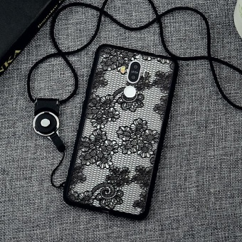 Harga Black Lace Phone Case Shockproof phone Cover 3D Relief Pattern Silicon TPU Phone Case For Huawei Mate 9 - intl