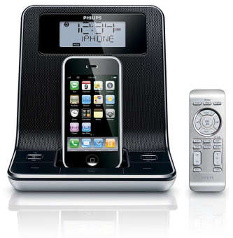 Philips DC320/98 Clock radio for iPod iPhone / FM digital tuning with presets (Export Set)