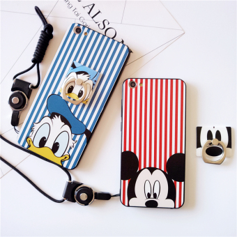 Harga Oppo R9s/R9SPLUS INCLUSIVE a59/m silicone holder ring phone shell mobile phone shell protective sleeve cute cartoon a37