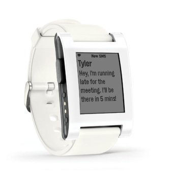 Harga Pebble 2 + Heart Rate Smart Watch- White/White - intl