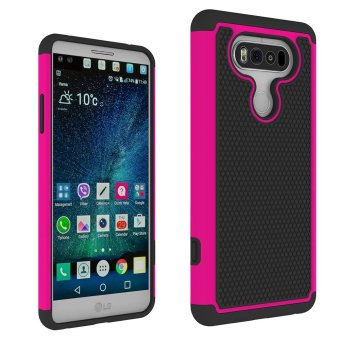 Harga Rugged Football Design Case with Resilient Shock Absorption Protective Cover Case For LG V20 (Hotpink) - intl