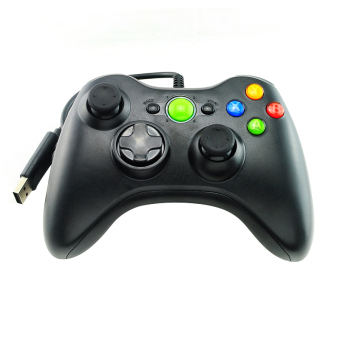 Harga Black New Wired USB Gamepad Controller Joystick Joypad Resembles XBox360 for PC Computer (Black)