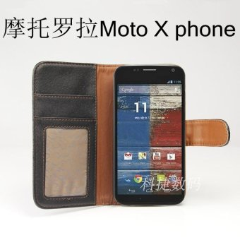 Harga For Motorola Moto x phone Moto x phone holster standing protective sleeve embossed leather
