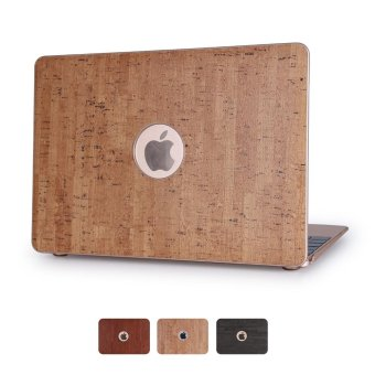 Harga Wood Grain Leather Skin Hard Cover for MacBook Pro 13.3 Inch - Gold - intl