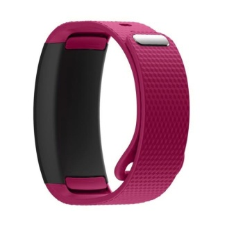 Harga Xumu Samsung Gear Fit 2 SM-R360 Replacement Band Luxury Watch Strap Silicone Wristwatch Bands 2017 Hot Superior Quality (Rose Red) - intl