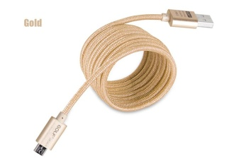 Harga GOLF 1.5M Fast Charging Micro Cable Nylon Braided Transfer Data Line Gold - intl