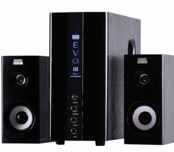 Sonic Gear EVO 3 Multimedia speakers,USB,2.0 solid wooden woofer ,PSB Safety Mark Approved