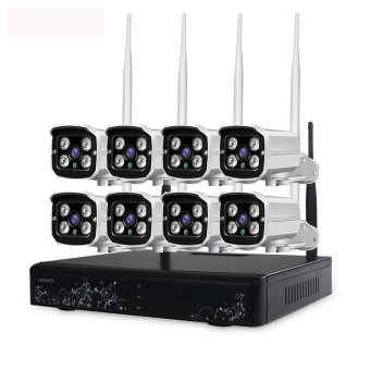 Harga LOOSAFE HD 1080P Wireless WIFI 3T NVR Kits CCTV 8CH Security Camera