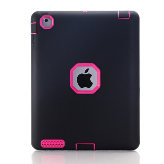 Harga Case Rubber Shockproof Heavy Duty Hard Cover for Apple iPad Mini 1 2 3(Black) - Intl