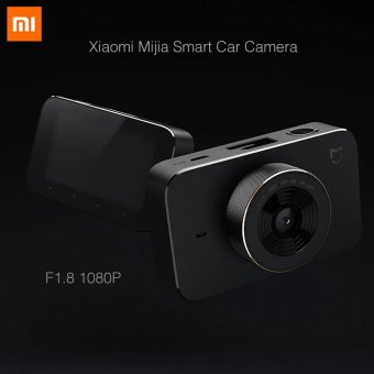Harga Newest 2017 Xiaomi Mijia Smart Car Camera F1.8 1080P 160 Degree Wide Angle 3 Inch HD Screen WiFi Connection Car Mi DVR Camera - intl