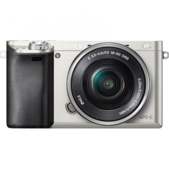 Sony Singapore a6000 / ILCE-6000L E-mount Camera with APS-C Sensor + SELP1650 Lens Kit (Silver)