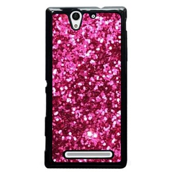 Harga Y&M Bling Bling Pink Painting Phone Case For SONY Xperia C3 (Multicolor)
