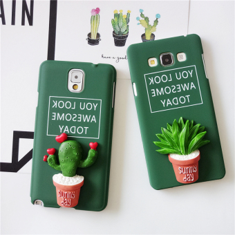 Harga Simple dark green matte samsung note3/4/5 A7/S6edge/A8/S4/s5 phone shell mobile phone shell protective sleeve