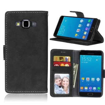 Harga Ueokeird Protective Stand Wallet Purse Credit Card ID Holders Magnetic Flip Folio TPU Soft Bumper Leather Case Cover for Samsung Galaxy A5 2015 A500 - intl