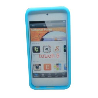 Harga Silicone Cover Case Skin for Apple Ipod Touch 5 5G (Sky Blue)