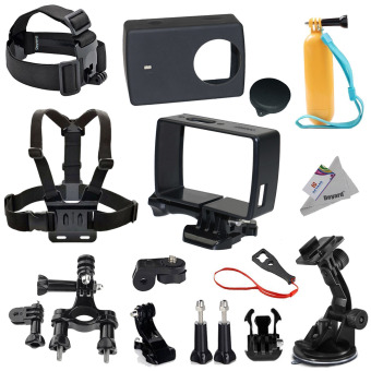 Deyard Y-06 Xiaomi Yi 4K Protective Housing Frame Case 15 in 1 Accessories Bundle for Xiaomi Yi 4K Action Camera 2