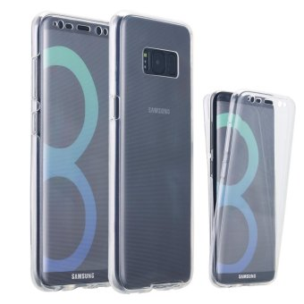 Galaxy S8 Case, Soft TPU Crystal Clear Slim 360 Degree Full Body Protective Cover Case for Samsung Galaxy S8 - Clear - intl