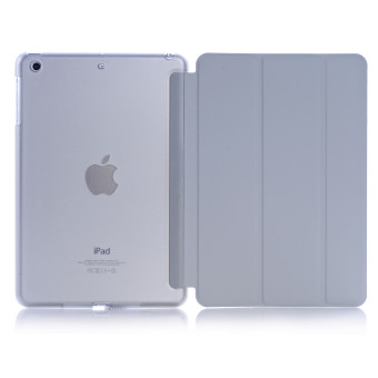 Welink Ultra Slim Smart Cover PU Leather Case for Apple iPad Mini 4 (Grey) - intl