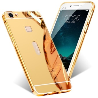 Harga BYT Electroplated Metal Bumper Mirror Back Cover Case for Vivo X6 Plus - intl
