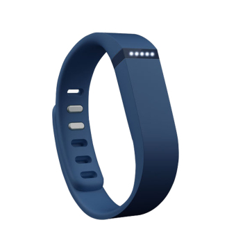 Harga Replacement Large Sports TPE TPU Wrist Band with Clasp for Fitbit Flex Smart Bracelet - Deep Blue