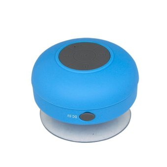 Harga BTS-06 Waterproof Bathroom Speaker Wireless - Blue