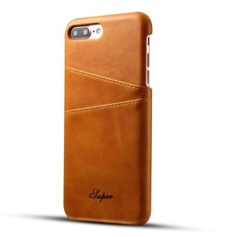 Harga Ultra Thin Vintage PU Leather Cover Case For iPhone 6s /7 Plus&Huawei Mate 9 - intl