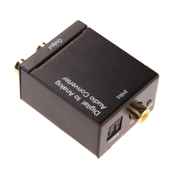 Harga Digital Optical CoaxCoaxialToslink to Analog RCA L/R Audio ConverterAdapter