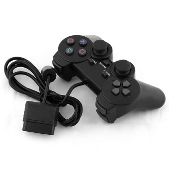 Harga Wired Single Vibration Shock Joystick ABS Game Gamepad Controller For PS2 Gifts