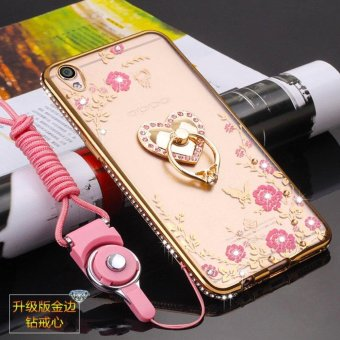 Secret Garden Diamond TPU Back Case Cover For Oppo R9 Plus(Love gold) - intl