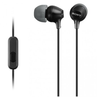 Harga Sony Singapore MDR-EX15AP In-Ear Headphone with mic (Black)