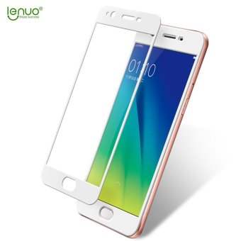 Harga LENUO CF Full Cover Soft Carbon Fiber Tempered Glass Screen Protector for Oppo A57 - White - intl