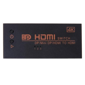 Harga 3 in 1 Dual HDMI/Mini DP Displayport in to 4K*2K HDMI out Switcher - intl
