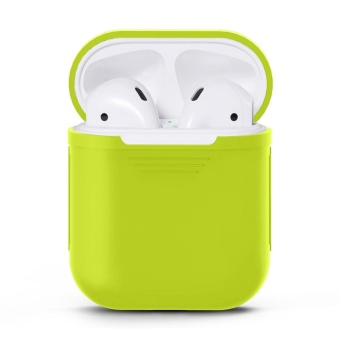 Harga fangfang Soft Silicone Protective Cover Case For Apple Airpods Wireless Bluetooth Earphones - Green - intl