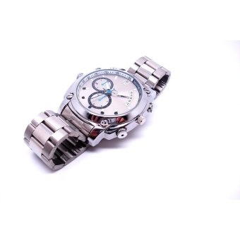 Harga 16GB HD 1080P Waterproof Spy Watch Camera with IR Night VisionHidden Cam H2 - intl