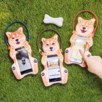 Harga Japan purchasing felissimo you + more! Shiba inu gel belly smile mobile phone bag light waterproof