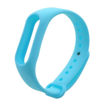 Harga TPU Wrist Strap For Xiaomi Mi Band 2(Sky Blue)