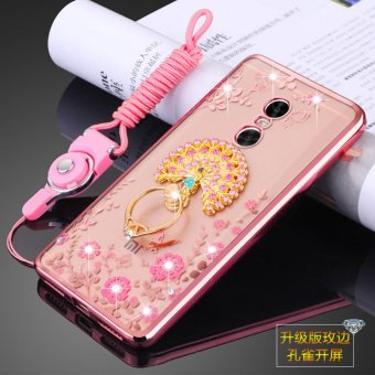 Harga Secret Garden Rhinestone Soft Shell Case Cover For Xiaomi Redmi Note 4X(peacock rose gold) - intl