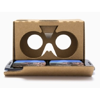 Harga 10 X 2016 Model Google Cardboard V2 with Head Strap VR Box Virtual Reality (VR) 3D Glasses