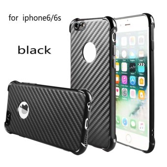Harga Shockproof Carbon Fiber Pattern Soft TPU Case Cover For Apple IPhone 6/6S - intl