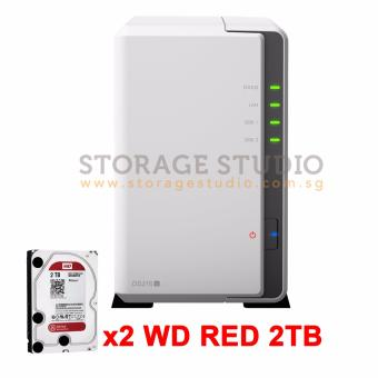 Harga Synology DS216J & 2 X WD RED 2TB