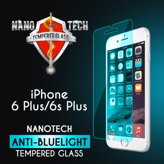 Harga Nanotech iPhone 6 Plus / 6s Plus Anti-blue Light Tempered Glass Screen Protector [Blue Version][Non-full Coverage]