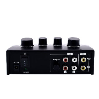 Harga OEM Karaoke Echo Mixer Karaoke Sound Mixer Black PC Amplifier Karaoke System
