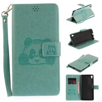 Harga Fashion Panda Protective Fashion Panda Protective Stand Wallet Purse Credit Card ID Holders Magnetic Flip Folio TPU Soft Bumper PU Leather Ultra Slim Fit Case Cover for Sony Xperia XA Ultra / C6 Ultra - intl