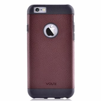 Premium Litchi Grain Leather Case Cover For Apple iPhone 6 / iPhone 6S 4.7 Inch Screen - intl