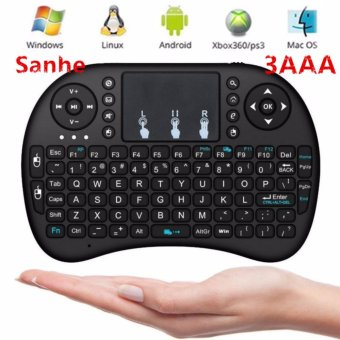 Harga I8 Mini 92 keys 2.4Ghz Wireless Touchpad Remote Keyboard Air Mouse For Pc, Pad, Xbox 360, Ps3, Google Android Tv Box, Htpc, Iptv - intl