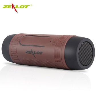 Harga ZEALOT S1 3 in 1 Outdoor Portable Bicycle Bluetooth Speaker (Brown) - Intl